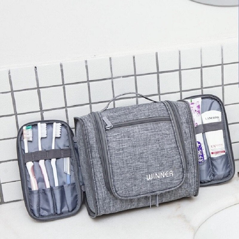 Hanging Wash Bag open sides