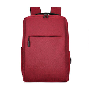 Red USB Charging Backpack