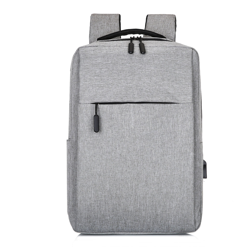 Grey USB Charging Backpack