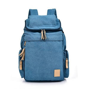 Blue Classic Canvas Backpack
