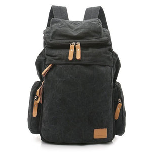 Black Classic Canvas Backpack