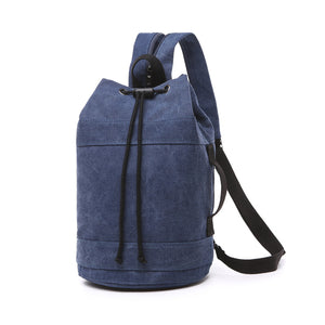 Canvas Drawstring Rucksack dark blue medium