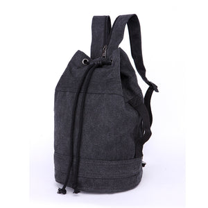 Canvas Drawstring Rucksack black medium