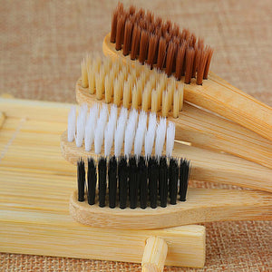 Soft Bamboo Toothbrush Bristles up close