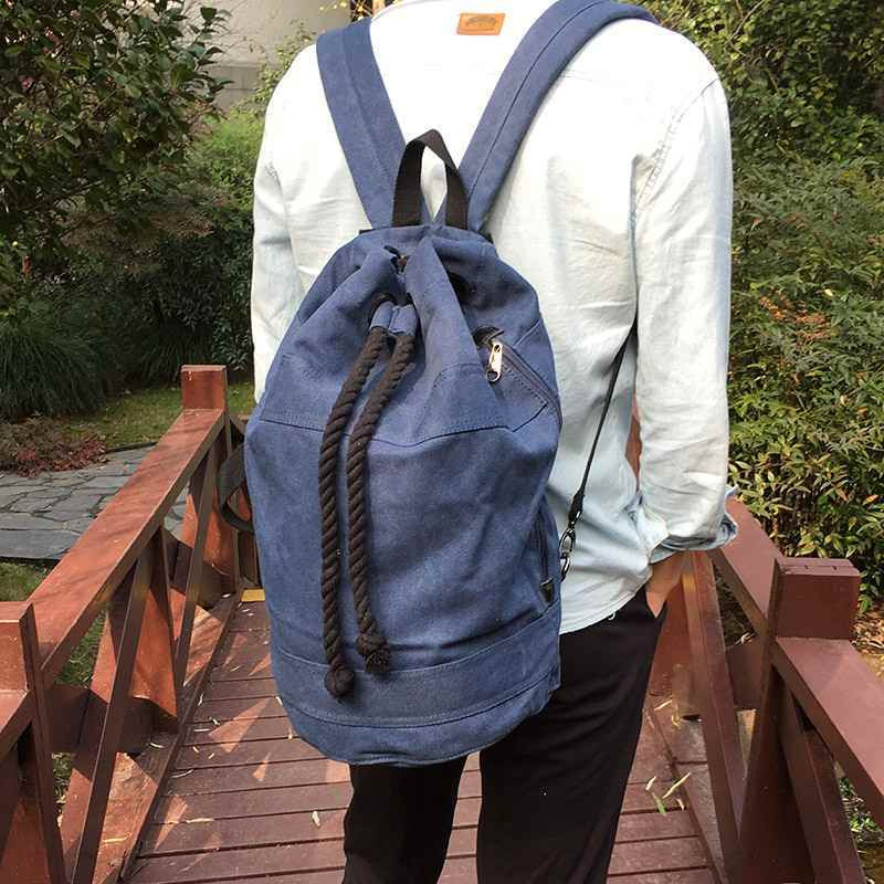 Canvas Drawstring Rucksack dark blue live