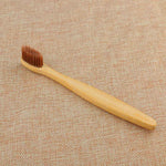 Brown Soft Bamboo Toothbrush