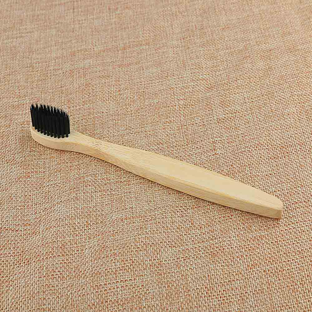 Black Soft Bamboo Toothbrush