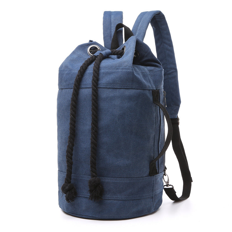 Canvas Drawstring Rucksack dark blue large