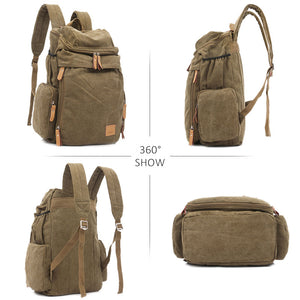 Classic Canvas Backpack 360 view