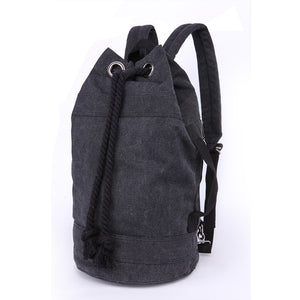 Canvas Drawstring Rucksack black large
