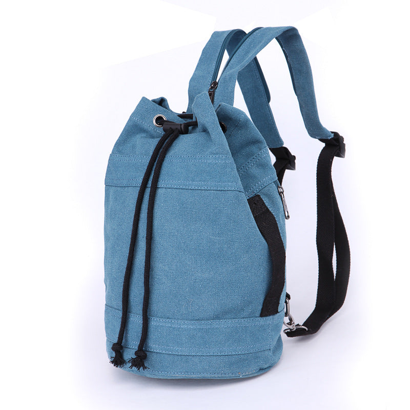 Canvas Drawstring Rucksack blue medium