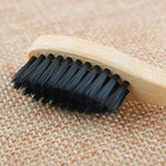 Black Soft Bamboo Toothbrush up close
