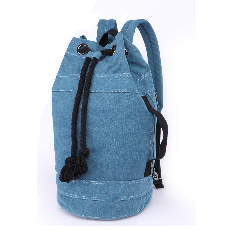 Canvas Drawstring Rucksack blue large