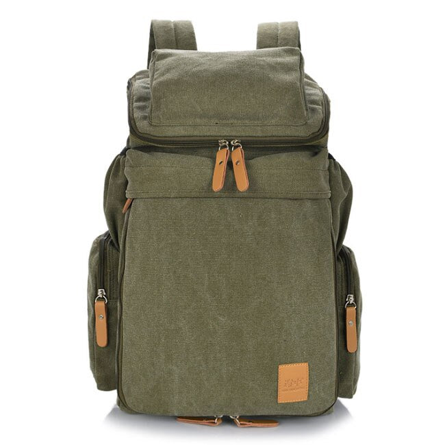 Green Classic Canvas Backpack