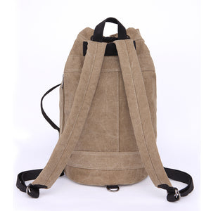 Canvas Drawstring Rucksack back view