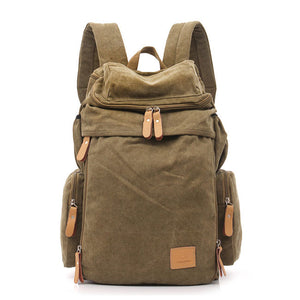 Brown Classic Canvas Backpack