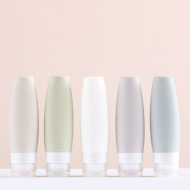 different colours Refillable Silicone Bottle