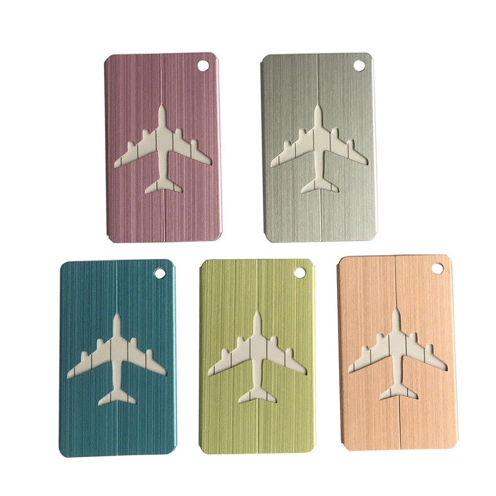 different colour aluminium luggage tags without strap