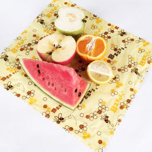 Organic Beeswax Food Wraps with fruit