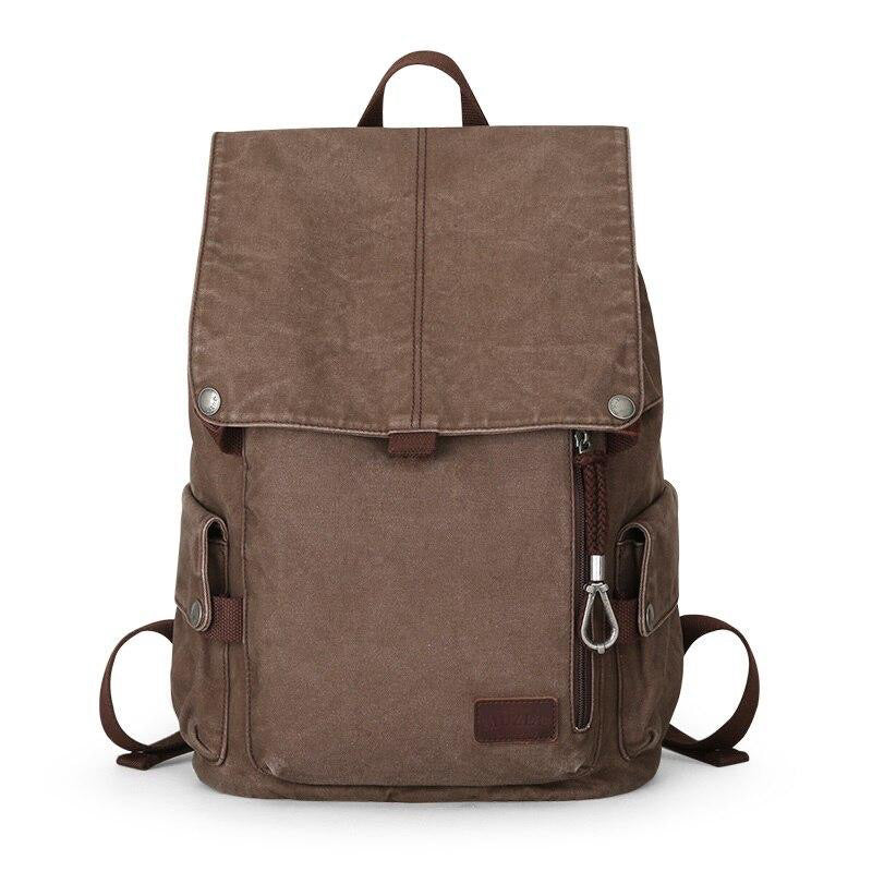 coffee Multi-function Canvas Backpack