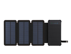 Solar Powered Battery Bank Three Panels