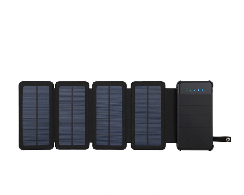 Solar Powered Battery Bank Four Panels