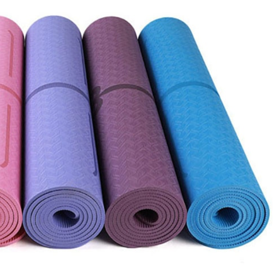 Travel Yoga Mats Rolled Up