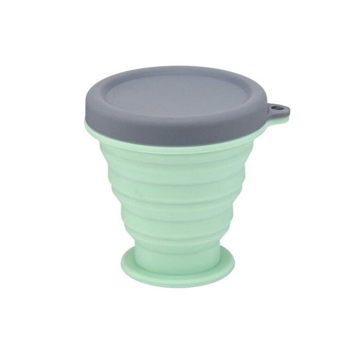 green Collapsible Silicone Cup