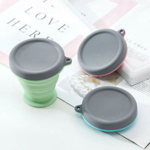 Collapsible Silicone Cup folded and unfolded