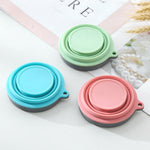 different colour Collapsible Silicone Cup folded bottom view