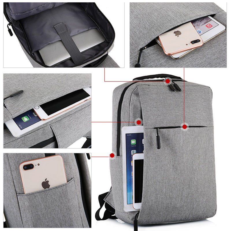 USB Charging Backpack Pockets & Features