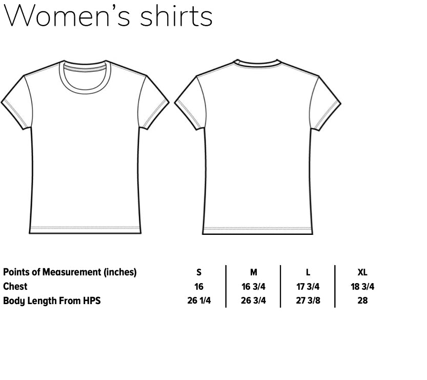 Sizes women's weed shirts