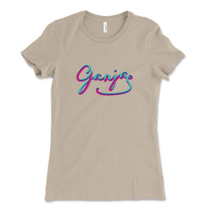 Ganja weed design shirt women soft cream