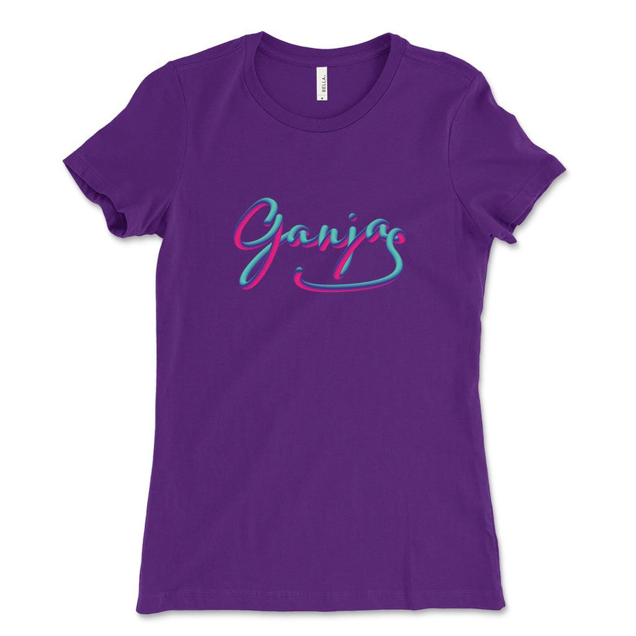 Ganja weed design shirt women team purple