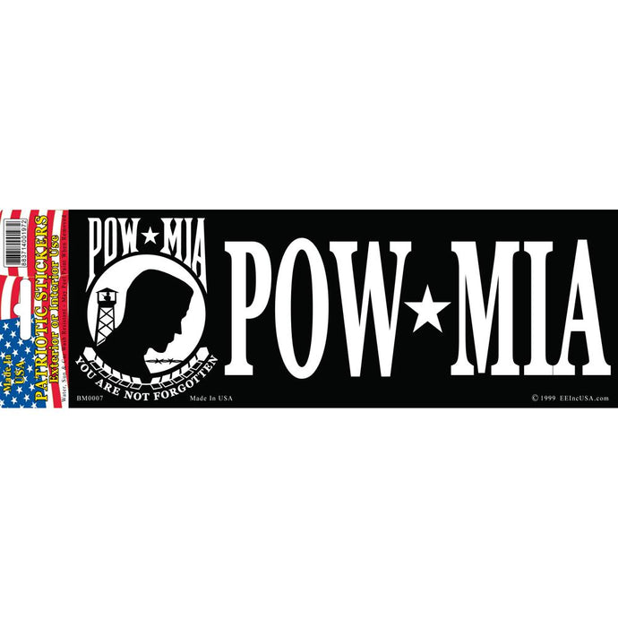 POW*MIA BUMPER STICKER