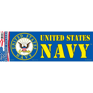 US NAVY LOGO, NAVY BUMPER STICKER