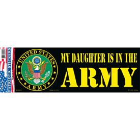 ARMY, MY DAUGHTER BUMPER STICKER