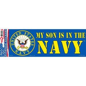 US NAVY, MY SON BUMPER STICKER