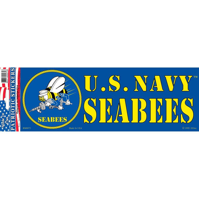 US NAVY, SEABEES BUMPER STICKER