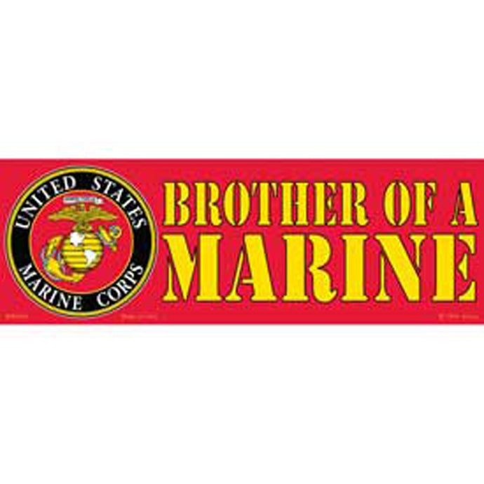 US MARINE CORPS, MY BROTHER BUMPER STICKER