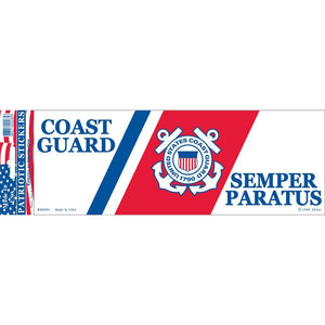 US COAST GUARD LOGO BUMPER STICKER