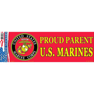 US MARINE CORPS, PROUD PARENT BUMPER STICKER