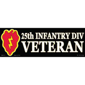 ARMY, 25TH DIVISION BUMPER STICKER