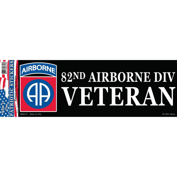 ARMY, 82ND AIRBORNE DIVISION BUMPER STICKER