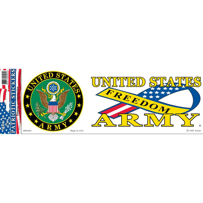 ARMY SYMBOL, FREEDOM BUMPER STICKER