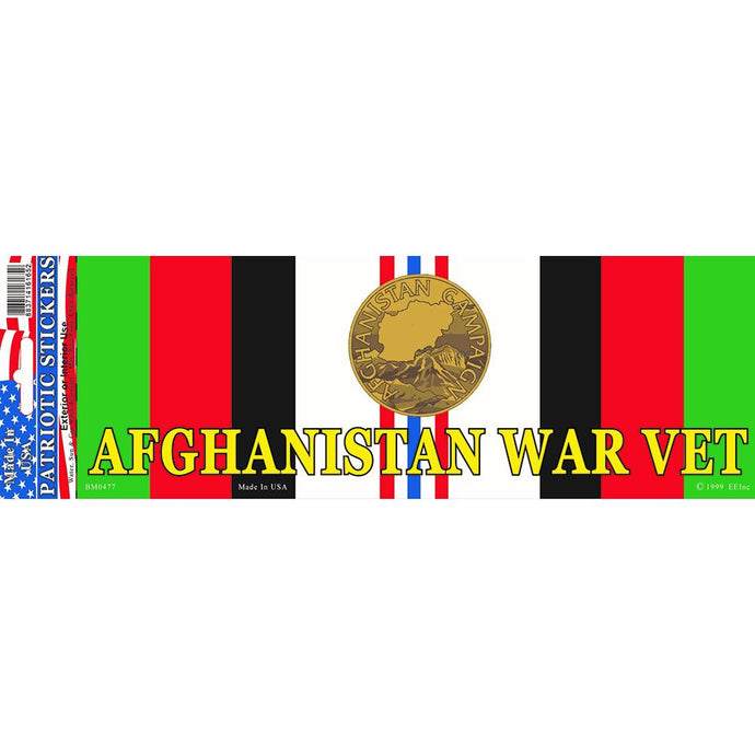 AFGHAN  WAR, SVC RIBBON BUMPER STICKER
