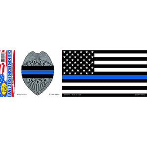 POLICE, BLUE LINE HONOR BUMPER STICKER