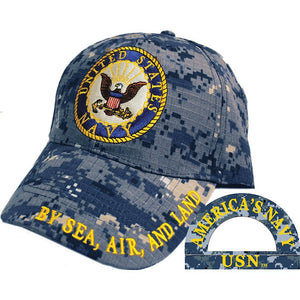 US NAVY LOGO, CAMO HAT