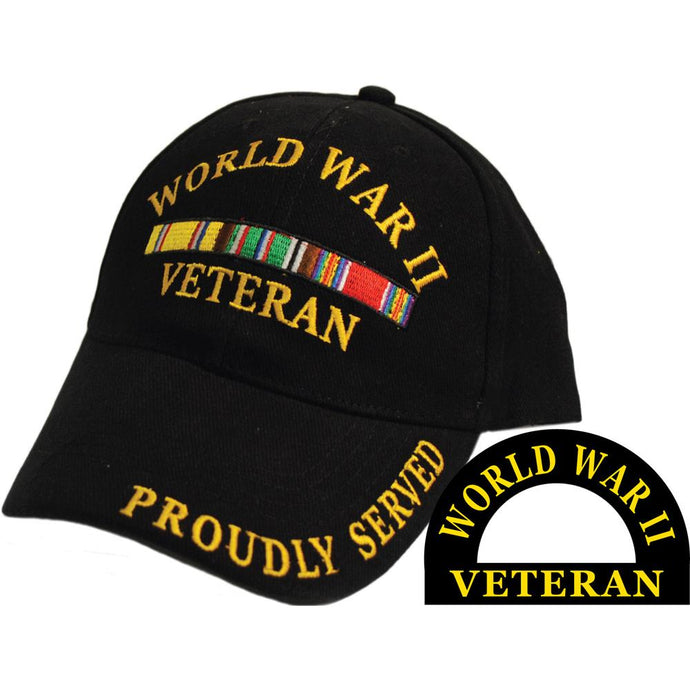 WWII VET, SVC RIBBON HAT