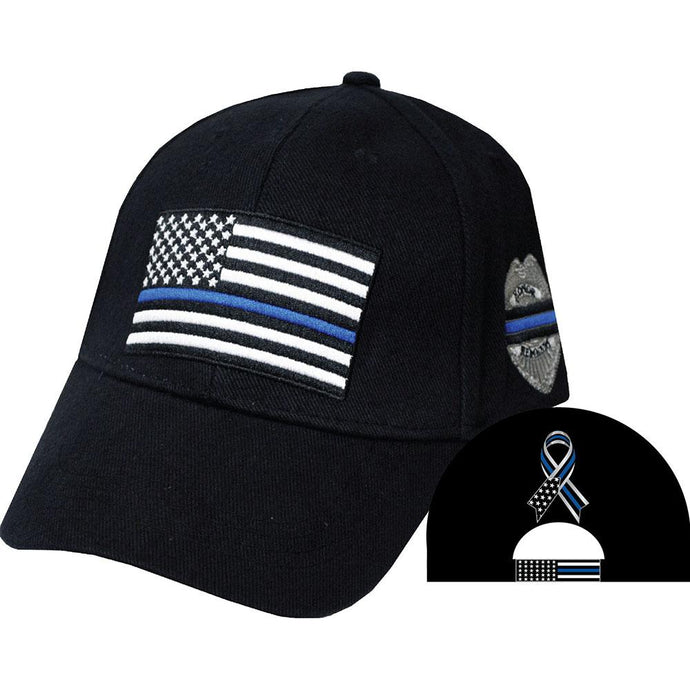 POLICE, THIN BLUE LINE HAT